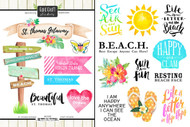 Getaway Collection St. Thomas 6 x 8 Double-Sided Scrapbook Sticker Sheet by Scrapbook Customs