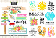 Getaway Collection Costa Rica 6 x 8 Double-Sided Scrapbook Sticker Sheet by Scrapbook Customs