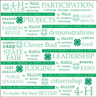 4-H Collection My Club 12 x 12 Scrapbook Paper by It Takes Two
