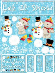 Signature Series Collection  Let It Snow 5 x 6 Scrapbook Embellishment by Reminisce