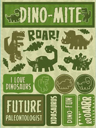 Signature Series Collection  Dinosaurs 5 x 6 Scrapbook Embellishment by Reminisce