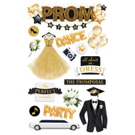 Prom Night 3-D Glitter 5 x 7 Scrapbook Embellishment by Paper House Productions