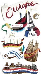 Europe Le Grande Layered Scrapbook Embellishment by Jolee's Boutique