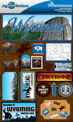 Jet Setters 2 Collection Wyoming Scrapbook Embellishment by Reminisce