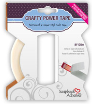 Crafty Power Super HIgh Tack Tape with Built-In Dispensing & Cutting Function by Scrapbook Adhesives - 81'