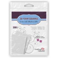 3D Self-Adhesive Small White Foam Squares by Scrapbook Adhesives - Pkg. of 308