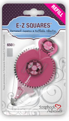E-Z Squares Refill Double-Sided Permanent Squares by Scrapbook Adhesives - 650 Squares