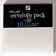 Vellum 3 x 3 Envelope Pack by Diecuts With A View - Pkg. of 10