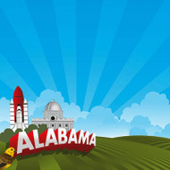 The State Line Collection Alabama 12 x 12 Scrapbook Paper by Reminisce