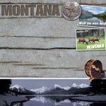 Montana 12 x 12 Vacation Scrapbook Paper by Scrapbook Customs