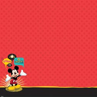 Disney Mickey Family Collection Mickey Mouse Glittered Thermography 12 x 12 Scrapbook Paper by EK Success