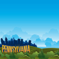 State Line Collection Pennsylvania 12 x 12 Scrapbook Paper by Reminisce