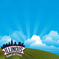 The State Line Collection Illinois 12 x 12 Scrapbook Paper by Reminisce
