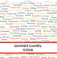 Summer Games 2008 12 x 12 Scrapbook Paper by WindyHill