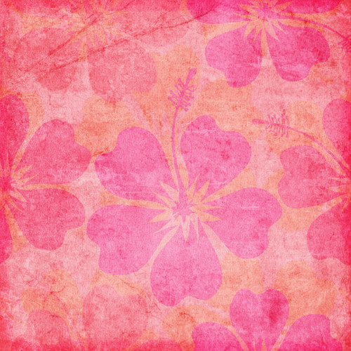 Paradise Collection Paradise Pink Hibiscus 12 x 12 Scrapbook Paper by Scrapbook Customs