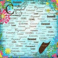 Paradise Collection Cozumel 12 x 12 Scrapbook Paper by Scrapbook Customs