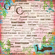 Paradise Collection Grand Cayman 12 x 12 Scrapbook Paper by Scrapbook Customs