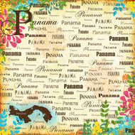 Paradise Collection Panama 12 x 12 Scrapbook Paper by Scrapbook Customs