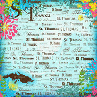 Paradise Collection St. Thomas 12 x 12 Scrapbook Paper by Scrapbook Customs