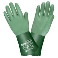 CHEM-COR™ Supported Neoprene Gloves, Interlock Lined, Sand Paper Grip, 12-INCH (Dozen)