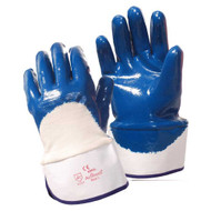 BRAWLER Supported Nitrile Gloves, Palm Coated, Jersey Lined, Safety Cuff, Sanitized®