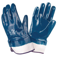 BRAWLER Supported Nitrile Gloves, Fully Coated, Jersey Lined, Safety Cuff, Sanitized®