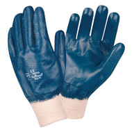 BRAWLER II Supported Nitrile Gloves, Fully Coated, Interlock Lined, Knit Wrist, Sanitized®