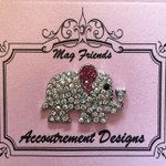 Elephant clear/pink Magnet Accoutrement Designs