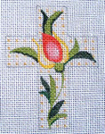 "Ann Wheat Pace 102AF Small Cross 18 Mesh 2.5"" x 3.5"" Crewel Flora"