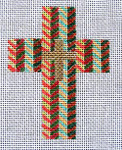 "Ann Wheat Pace 102AH Small Cross 18 Mesh 2.5"" x 3.5"" Herringbone"