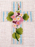 "Ann Wheat Pace 102AI Small Cross 18 Mesh 2.5"" x 3.5""  Lilacs"