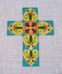 "Ann Wheat Pace 102AL Small Cross 18 Mesh 2.5"" x 3.5"" Arabesque"