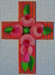 """Ann Wheat Pace 103AH 18 Mesh 4""""x 5.5""""  Neon Roses"""