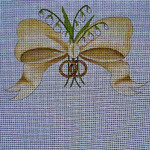 Ann Wheat Pace 206A 18 Mesh WEDDING Bow with Lilies