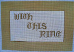 """Ann Wheat Pace 206B 18 Mesh WEDDING *With This Ring"""""""