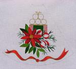 """Ann Wheat Pace 211B 13 Mesh Tree Skirt Section 9.75"""" x 11.25"""" Poinsettia"""