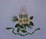 "Ann Wheat Pace 211C 13 Mesh Tree Skirt Section 9.75"" x 11.25"" Chrishas Rose"