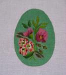 """Ann Wheat Pace 212E 18 Mesh EGG 2.5"""" x 3.75"""" Green Floral"""
