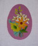 """Ann Wheat Pace 212F 18 Mesh EGG 2.5"""" x 3.75"""" Purple Floral"""
