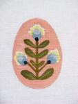 """Ann Wheat Pace 213B 18 Mesh EGG 2.5"""" x 3.75"""" Tri-Blue Floral"""
