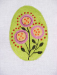 "Ann Wheat Pace 213C 18 Mesh EGG 2.5"" x 3.75"" Red Dot Floral"