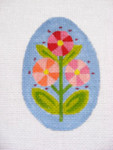 "Ann Wheat Pace 213D 18 Mesh EGG 2.5"" x 3.75"" Pink Pinwheel Floral"