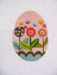 "Ann Wheat Pace 213E 18 Mesh EGG 2.5"" x 3.75"" Floral Pops"