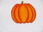 Ann Wheat Pace 252B 18 Mesh Pumpkin Includes Stitch Guide Round