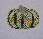 Ann Wheat Pace 252H 18 Mesh Pumpkin Includes Stitch Guide Spotted Green