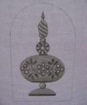 Ann Wheat Pace 254F 18 Mesh Mercury Includes Stitch Guide Flower Finial