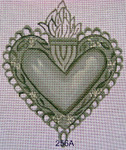"Ann Wheat Pace 256A Sacred Heart 5"" x 6.5"" Flames With Stitch Guide"