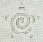 """Ann Wheat Pace 301A Spiral Star 18 Mesh 4.5"""" x 4.5"""" Silver White"""