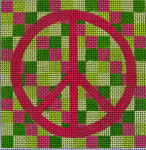 "Ann Wheat Pace 322B MEDIUM BLOCK 18 Mesh 4"" x 4"" Pink Peace"