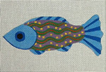"Ann Wheat Pace 401A FISH 18 Mesh 6"" x 2.5"" Blue"